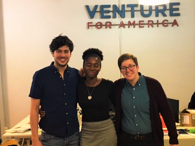 The Business of Giving Visits the Office of Venture For America