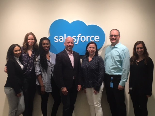 The Business of Giving Visits the Offices of Salesforce
