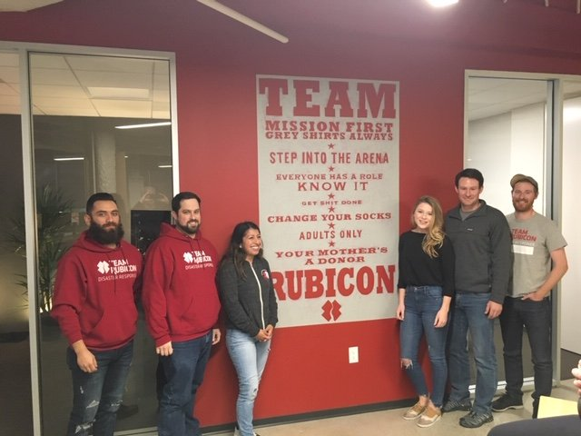 The Business of Giving Visits the Offices of Team Rubicon